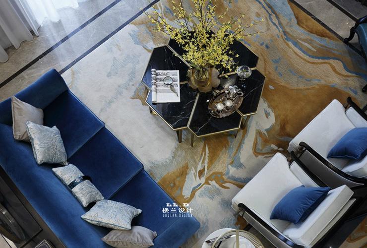 楼兰设计美式样板间别墅装修设计效果图赏析