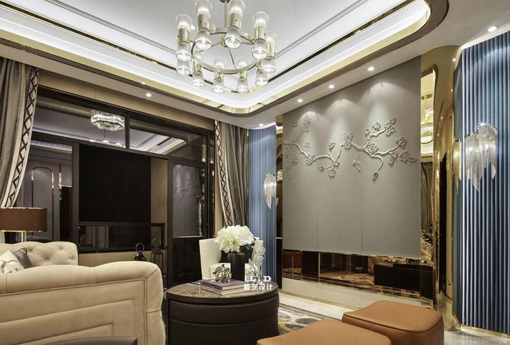 现代欧式平层别墅装修设计效果图