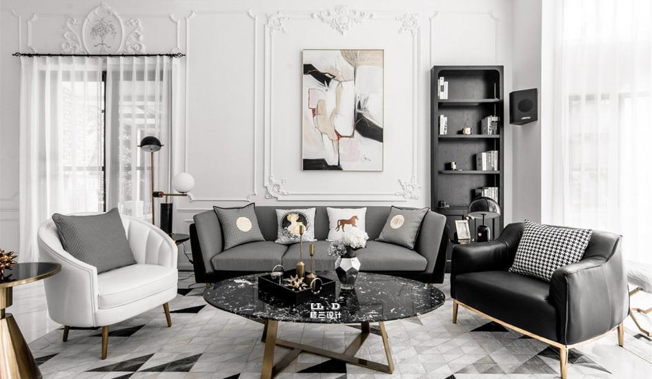 法式轻奢家庭装修设计效果图